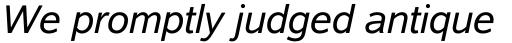 Albany Std Italic sample