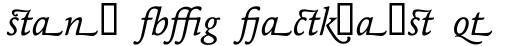 Maxime Italic Alternate sample