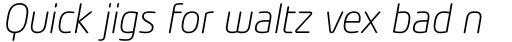 Neo Tech Light Italic Alt sample