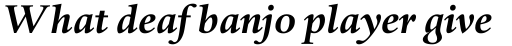 Haarlemmer MT Bold Italic sample