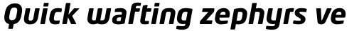 Neo Tech Bold Italic Alt sample