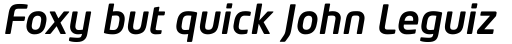 Neo Tech Medium Italic sample