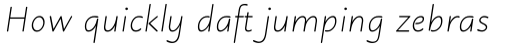 Julius Primary Light Italic sample