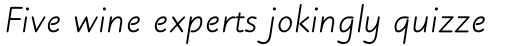 Julius Primary Italic sample