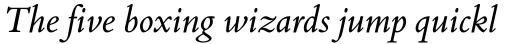 Bembo Book Italic sample
