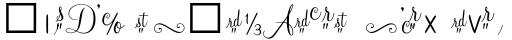 Mahogany Script Alt sample