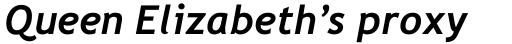 Trebuchet Bold Italic sample