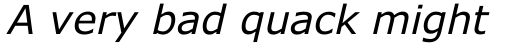 Verdana Italic sample
