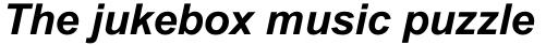 Arial Bold Italic sample