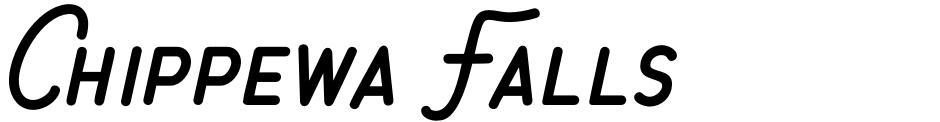 Click to view Chippewa Falls font, character set and sample text