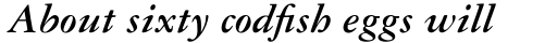 Garamond Three Bold Italic sample