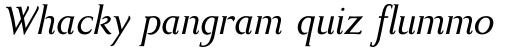 Bodebeck Bold Italic sample