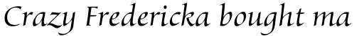 Byngve Italic sample
