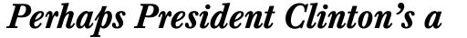 Baskerville Medium Italic sample
