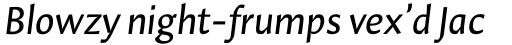 Hildegard LT Std Italic sample