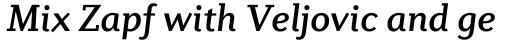 Diverda Serif Medium Italic sample