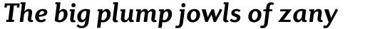 Diverda Serif Bold Italic sample