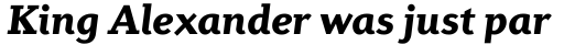 Diverda Serif Black Italic sample