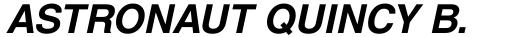 Helvetica World Bold Italic sample