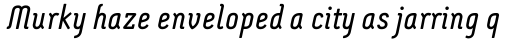 Montix Italic sample