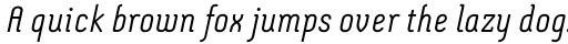 Montix Light Italic sample