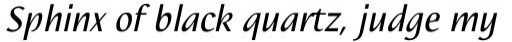 Nautilus Italic sample