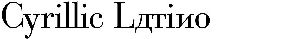 Click to view Cyrillic Latino font, character set and sample text