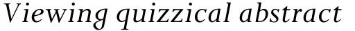 Pilgrim Italic sample