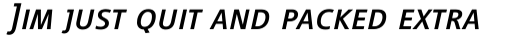 Vialog Italic Small Caps sample