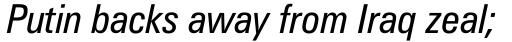 Zurich Condensed Italic sample