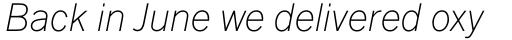 Fuller Sans DT ExtraLight Italic sample