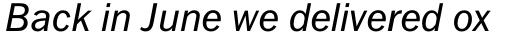 Fuller Sans DT Italic sample