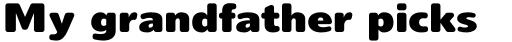 Delargo DT Rounded Black sample
