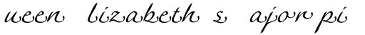 Linotype Agogo Swash Three sample