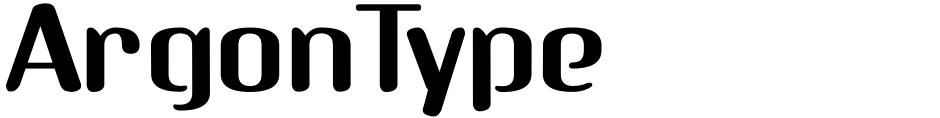 Click to view ArgonType font, character set and sample text