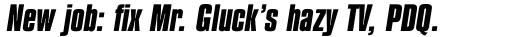 Compacta Bold Italic sample