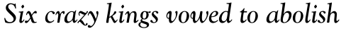 Goudy Catalogue Italic sample
