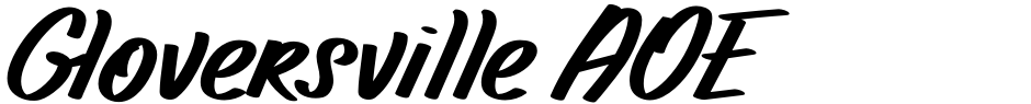 Click to view Gloversville AOE font, character set and sample text