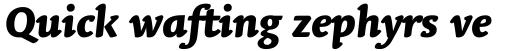 Linotype Syntax Letter OsF Heavy Italic sample