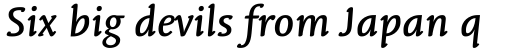 Linotype Syntax Letter OsF Medium Italic sample
