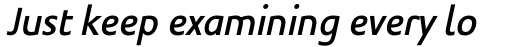 Legal Medium Italic sample