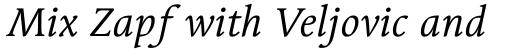 Linotype Syntax Serif OsF Italic sample