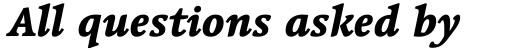 Linotype Syntax Serif OsF Heavy Italic sample