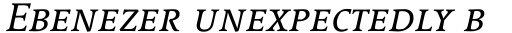 Linotype Syntax Serif SC Italic sample