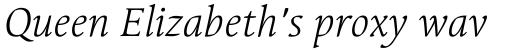 Linotype Syntax Serif OsF Light Italic sample