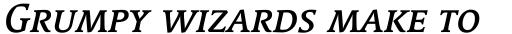 Linotype Syntax Serif SC Medium Italic sample
