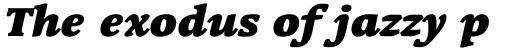 Linotype Syntax Serif Black Italic sample