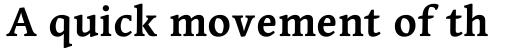 Linotype Syntax Serif Bold sample