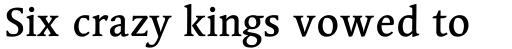Linotype Syntax Serif Medium sample