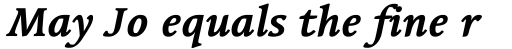 Linotype Syntax Serif OsF Bold Italic sample